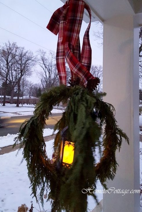 HometoCottage.com hanging lantern with sturdy frame