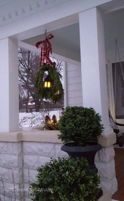 HometoCottage.com perfect spot for hanging lanterns