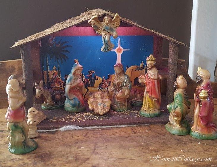 HometoCottage.com Sears paper mache nativity