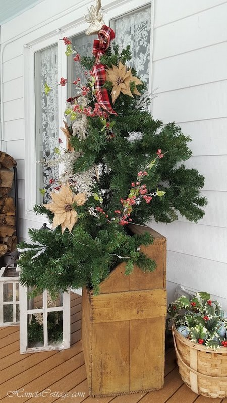 HometoCottage.com tree in antique wood box
