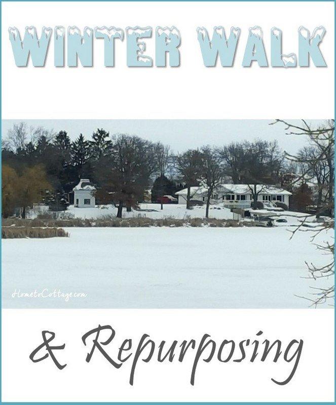 HometoCottage.com winter walk and repurposing