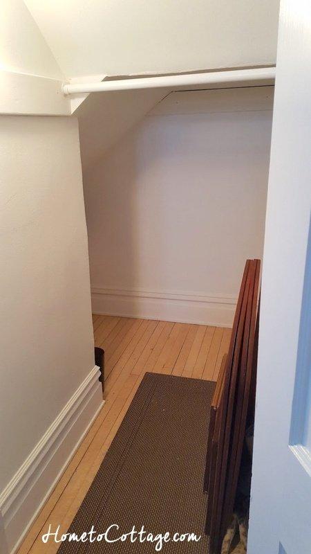 HometoCottage.com closet mostly empty