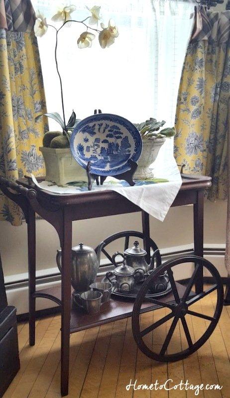 HometoCottage.com antique tea cart