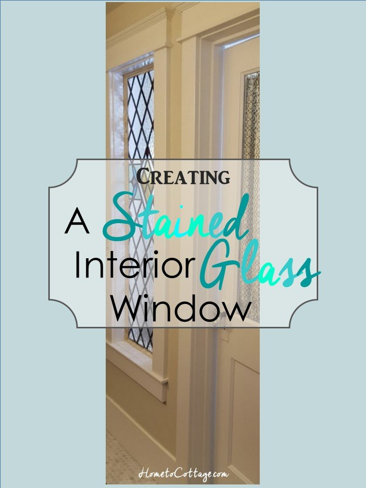 HometoCottage.com Creating a Stained Glass Interior Window
