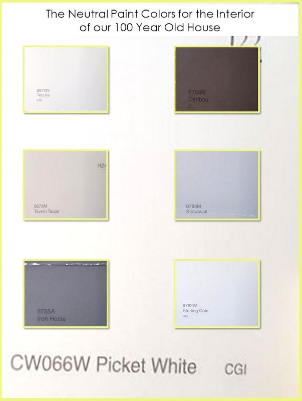 HometoCottage.com the neutral paint colors for the interior of our 100 year old house