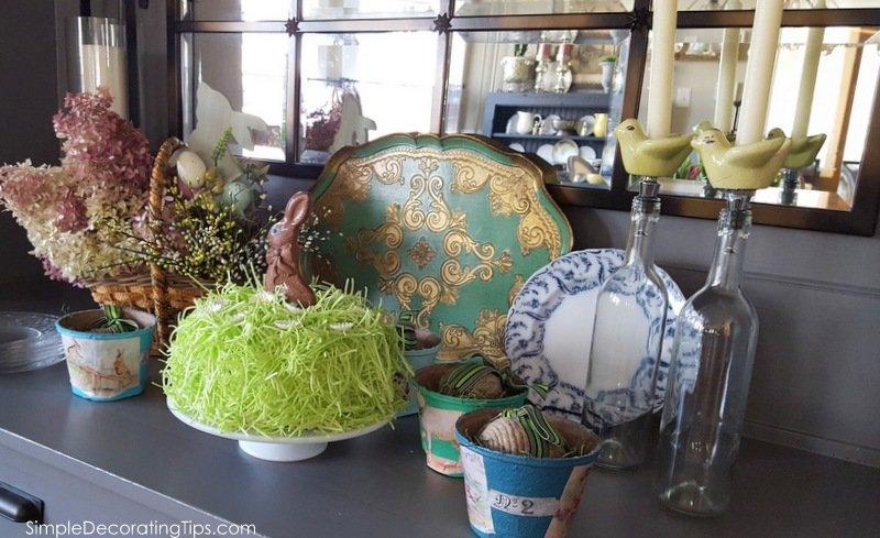 SimpleDecoratingTips.com Easter grass covered cake