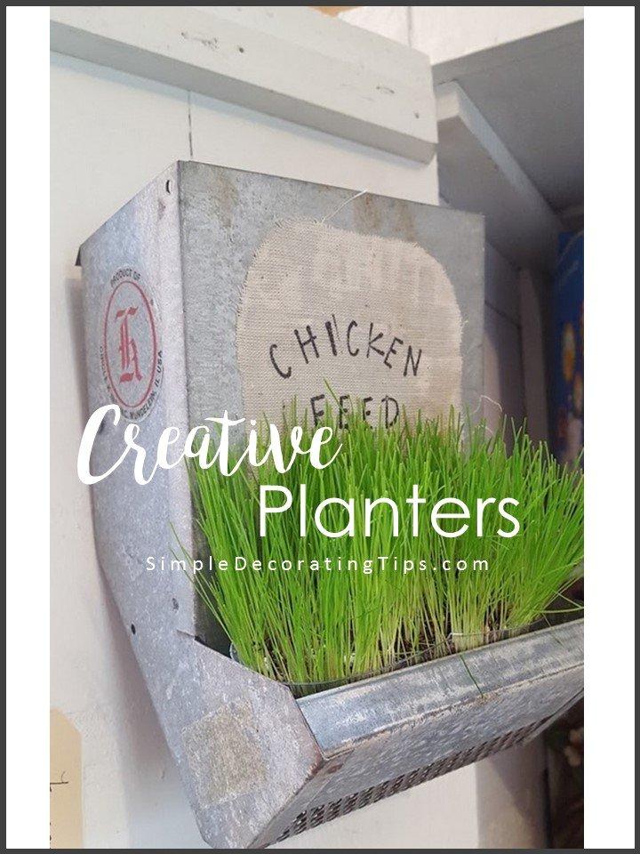 SimpleDecoratingTips.com Creative Planters