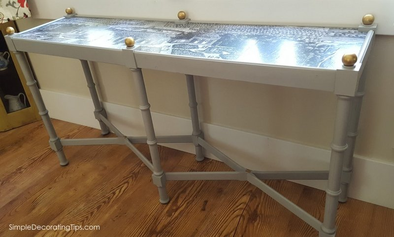 SimpleDecoratingTips.com Sofa Table Redo
