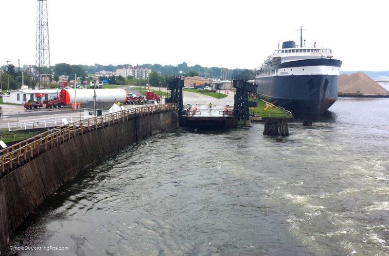 leaving the dock SimpleDecoratingTips.com Taking the SS Badger across Lake Michigan