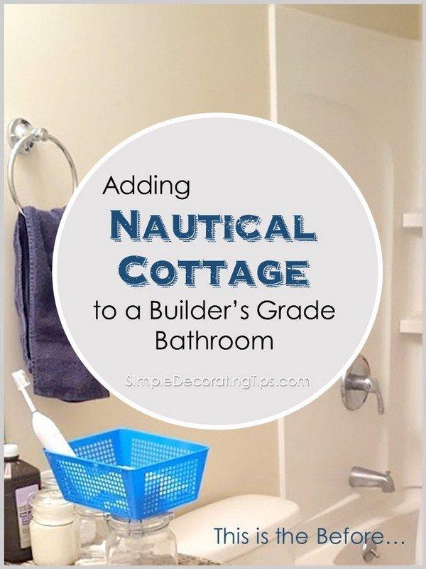 Nautical Cottage Bathroom SimpleDecoratingTips.com