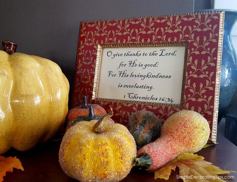 SimpleDecoratingTips.com 5 Tips for Thanksgiving Decorating