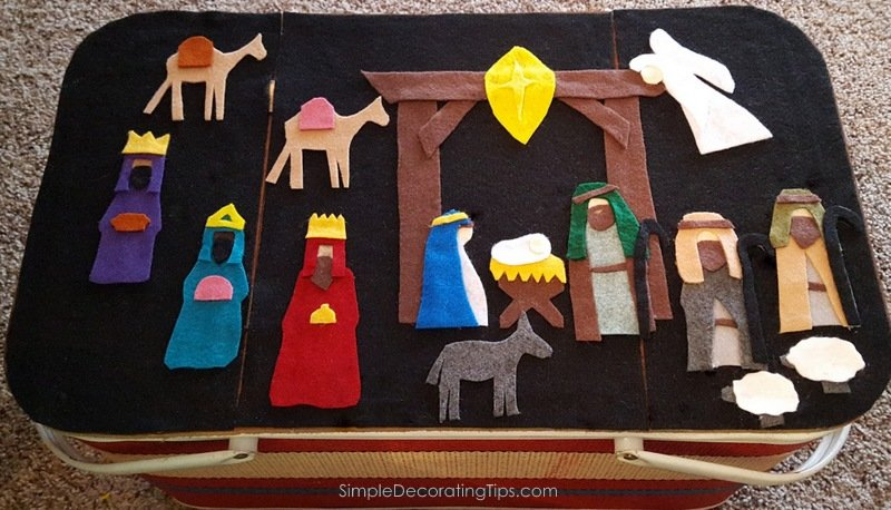 SimpleDecoratingTips.com Felt Nativity