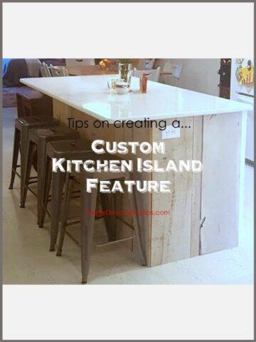 SimpleDecoratingTips.com Custom Kitchen Island Feature