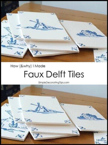 SimpleDecoratingTips.com How I Made Faux Delft Tiles