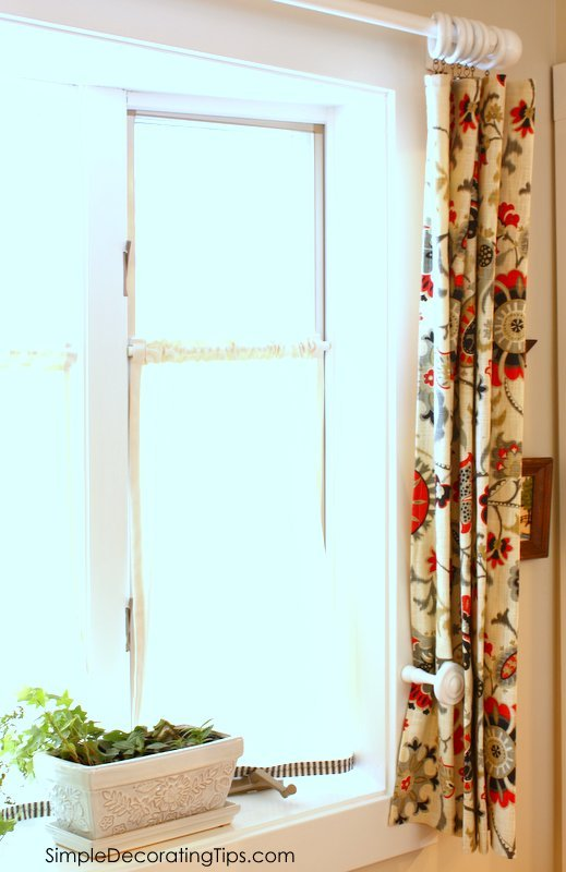 SimpleDecoratingTips.com beginner sewing diy simple curtain panel