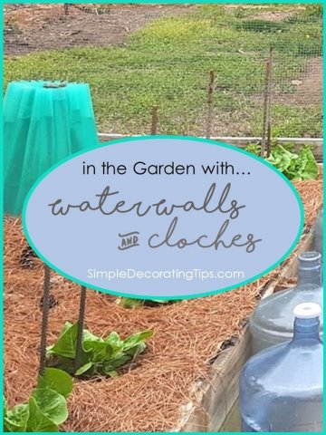 SimpleDecoratingTips.com Water Walls and Cloches in the garden