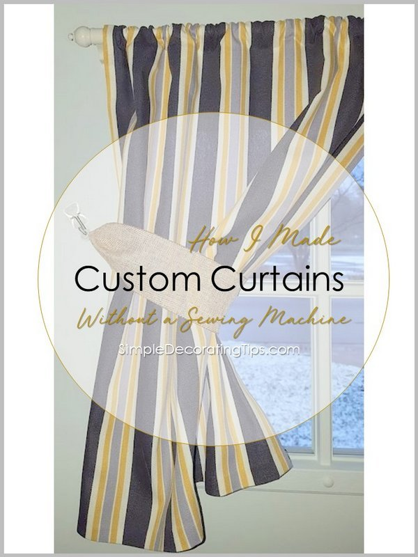 SimpleDecoratingTips.com How I Made Curtains without a Sewing Machine
