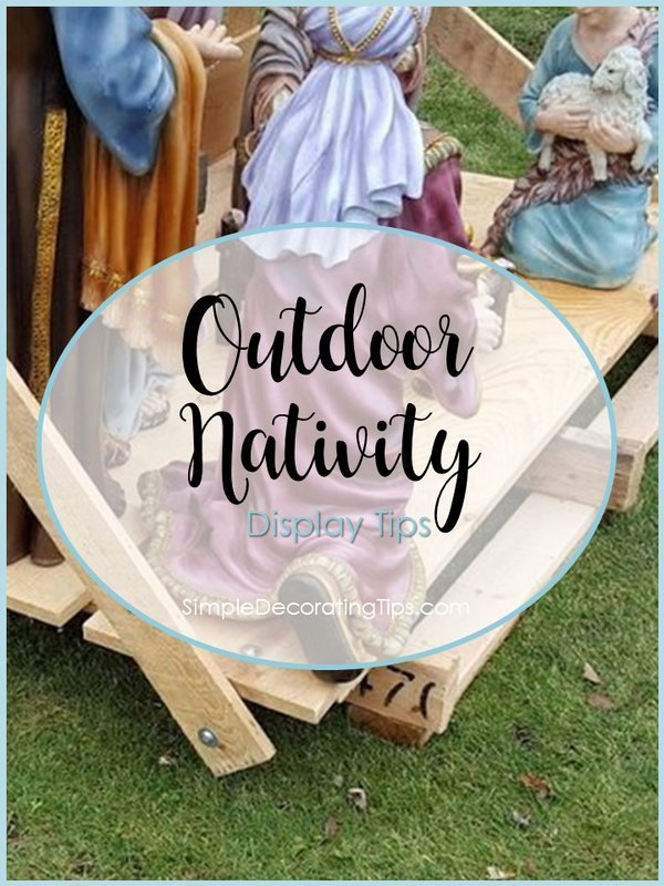 SimpleDecoratingTips.com outdoor nativity display tips