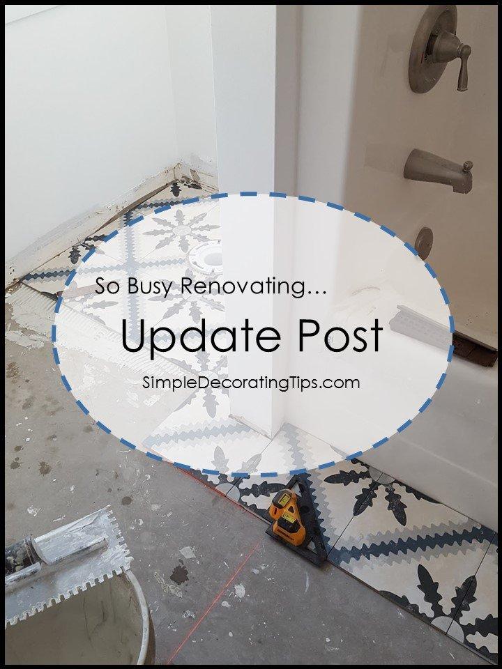 SimpleDecoratingTips.com Renovating Update Post