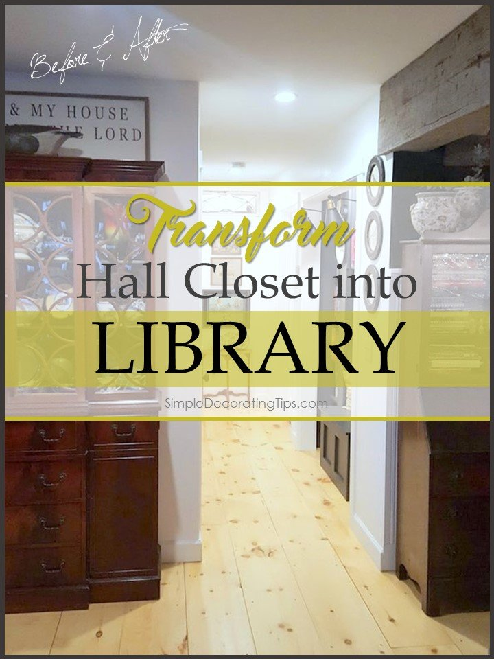 hall closet into library simpledecoratingtips.com
