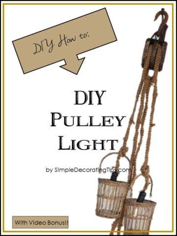 DIY Pulley Light SimpleDecoratingTips.com