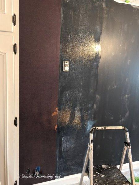 one strip up, next area glued