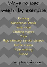 Ways to lose weight by exercise