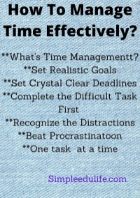 How To Manage Time Effectively_