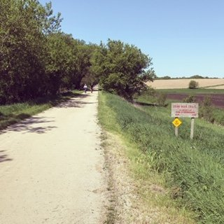 Use Strava, Map My Ride, and Google Map to figure out how to create a cycling adventure: in my case a 100-mile loop with miles of limestone bike trails.