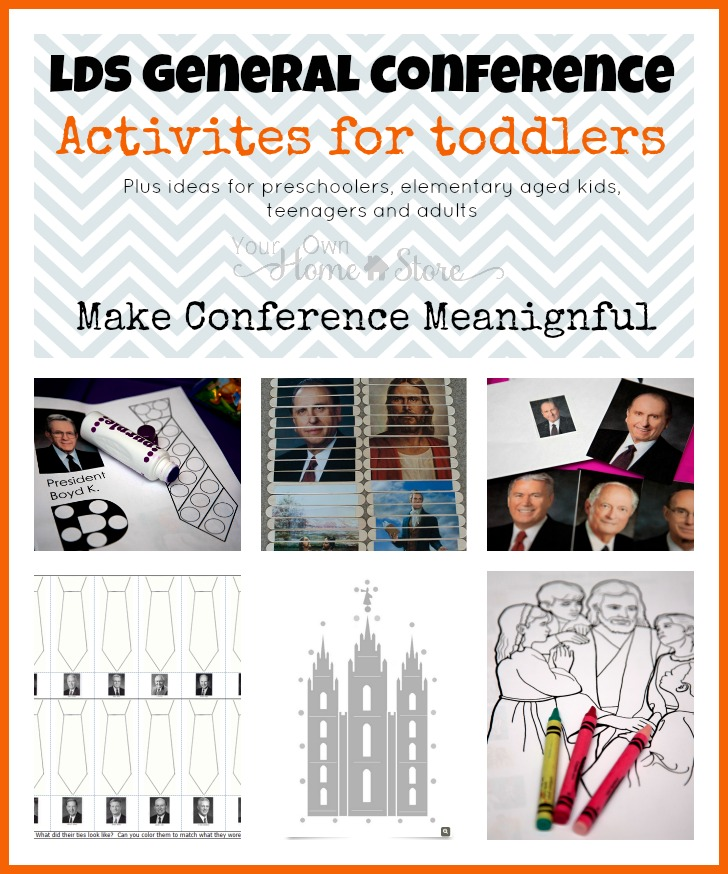 General Conference Toddler Activity ideas, plus the Ultimate list of Ideas for making General Conference Meaningful for all ages: http://simplefamilypreparedness.com/?p=9461