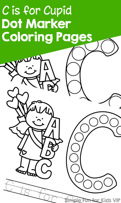 C cupid dot marker coloring pages simple fun, i love my daddy coloring pages