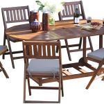 طاولة قابلة للطى ب 6 كراسى