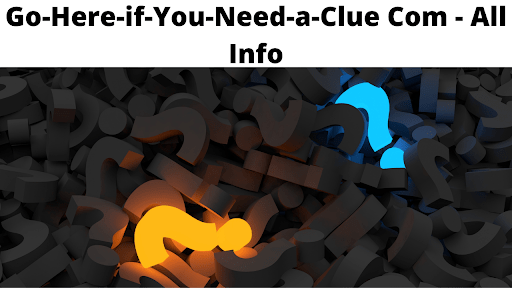 Go-Here-if-You-Need-a-Clue Com - All Info