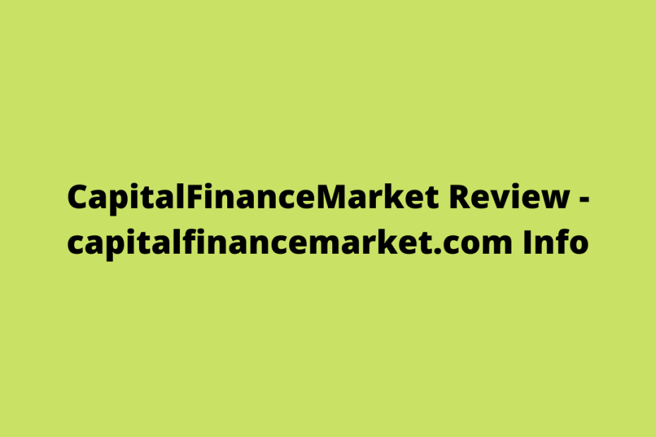 CapitalFinanceMarket Review