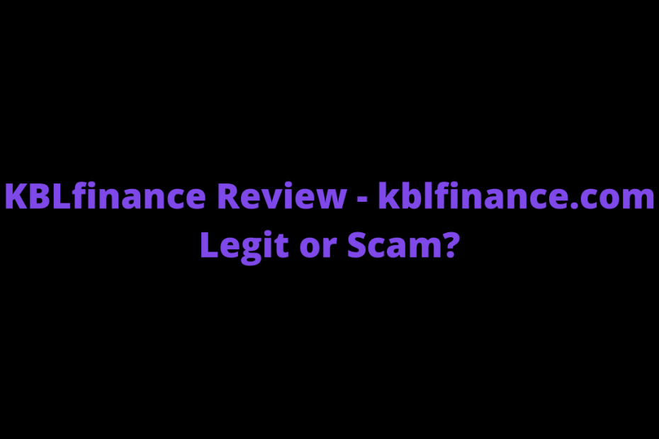 KBLfinance Review