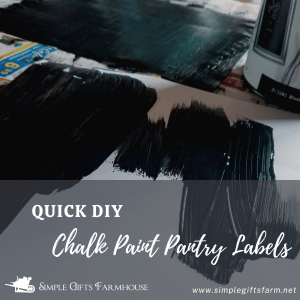 making quick diy chalk paint pantry labels