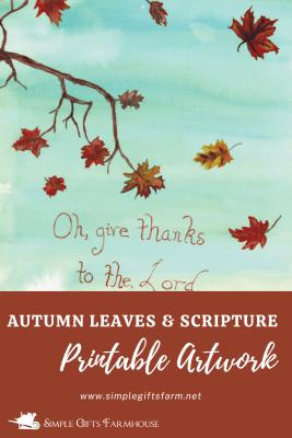 autumn leaves printable art