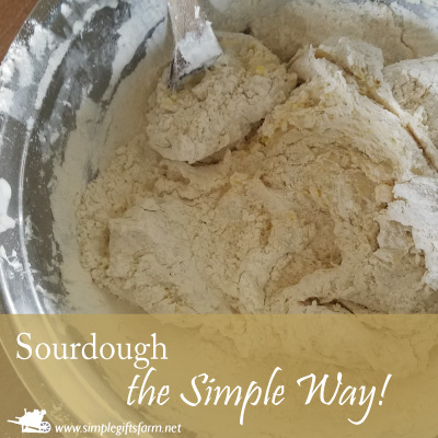 mixing up sourdough the simple way