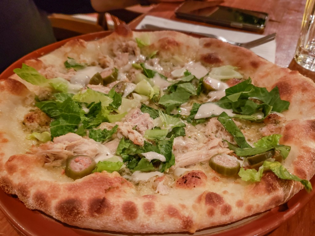 Turkey Pizza at Café Parvis