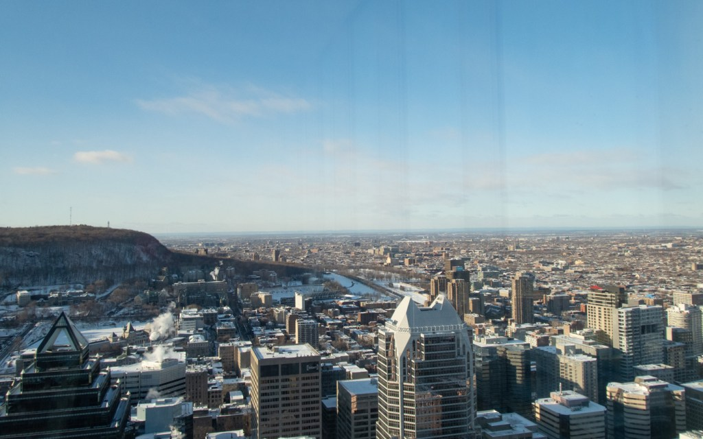 Montreal view from L'Observatoire 360