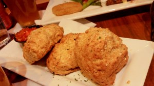Benne Seed Sour Cream and Chive Buttermilk Biscuits at Miss Shirley's