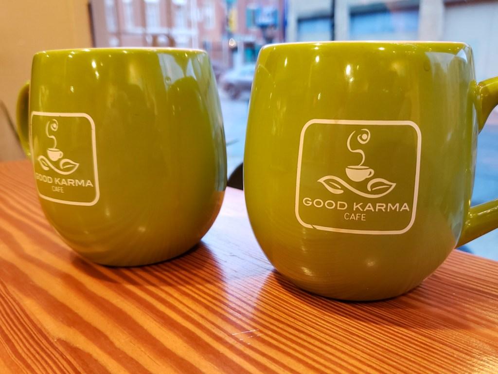 Coffee at Good Karma Cafe