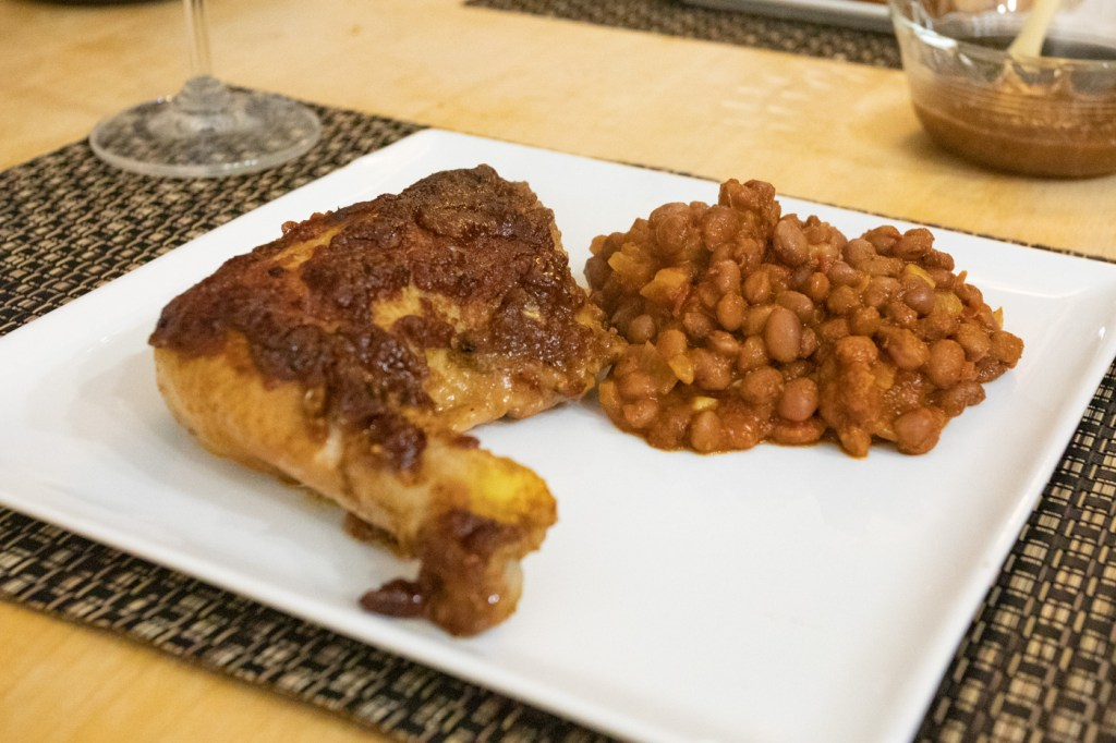 BBQ Chicken and Baked Beans
