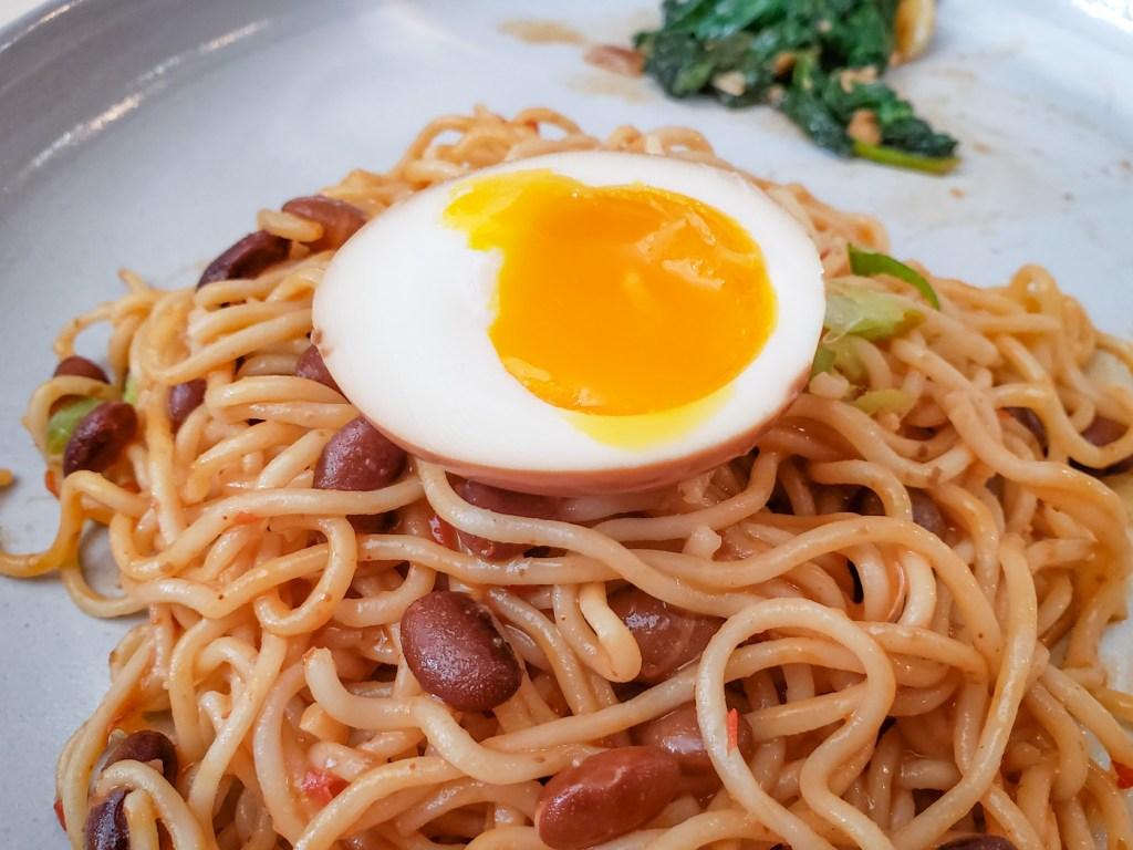 Bean Mazeman with Ramen Egg