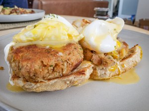 Crab Cake Benedict from The Gold Standard Cafe
