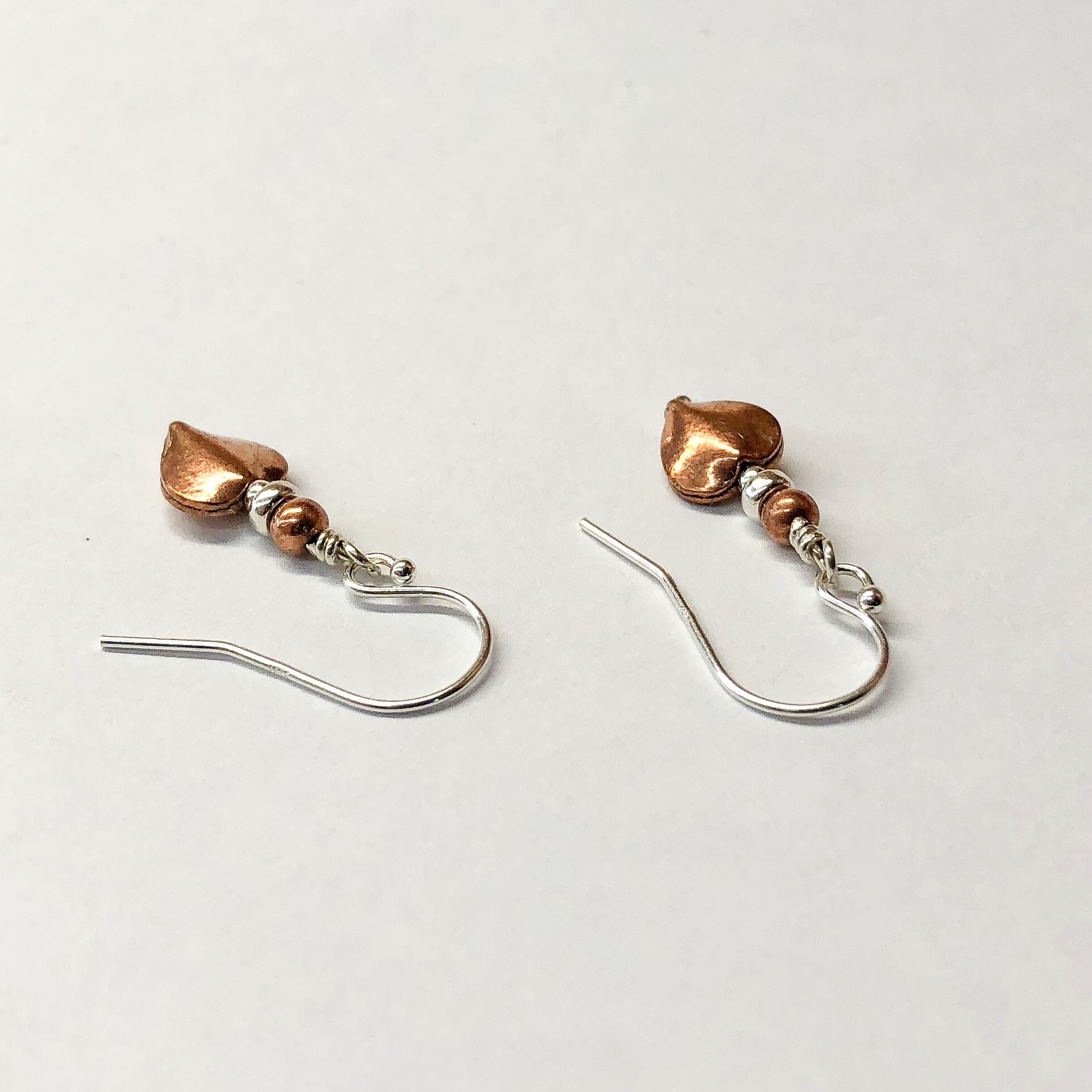 Real Copper Jewelry Copper Earrings 7 Year Anniversary Gift For Her Earrings Simple Graces Jewelry