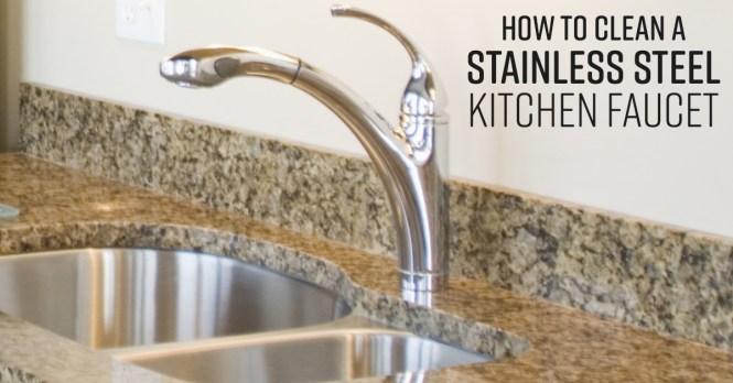 Clean Stainless Steel Kitchen Faucet