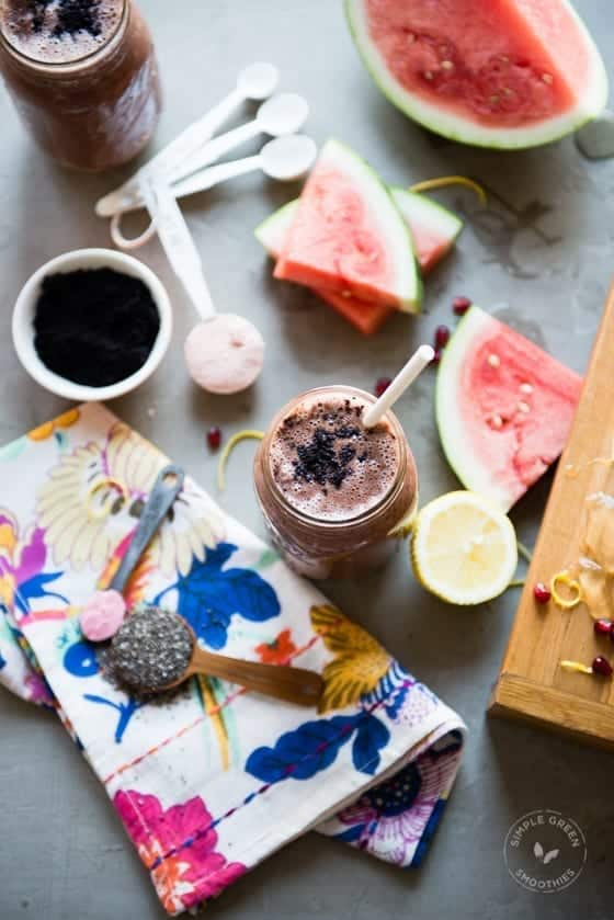 Cancer Fighting Watermelon Acai Smoothie