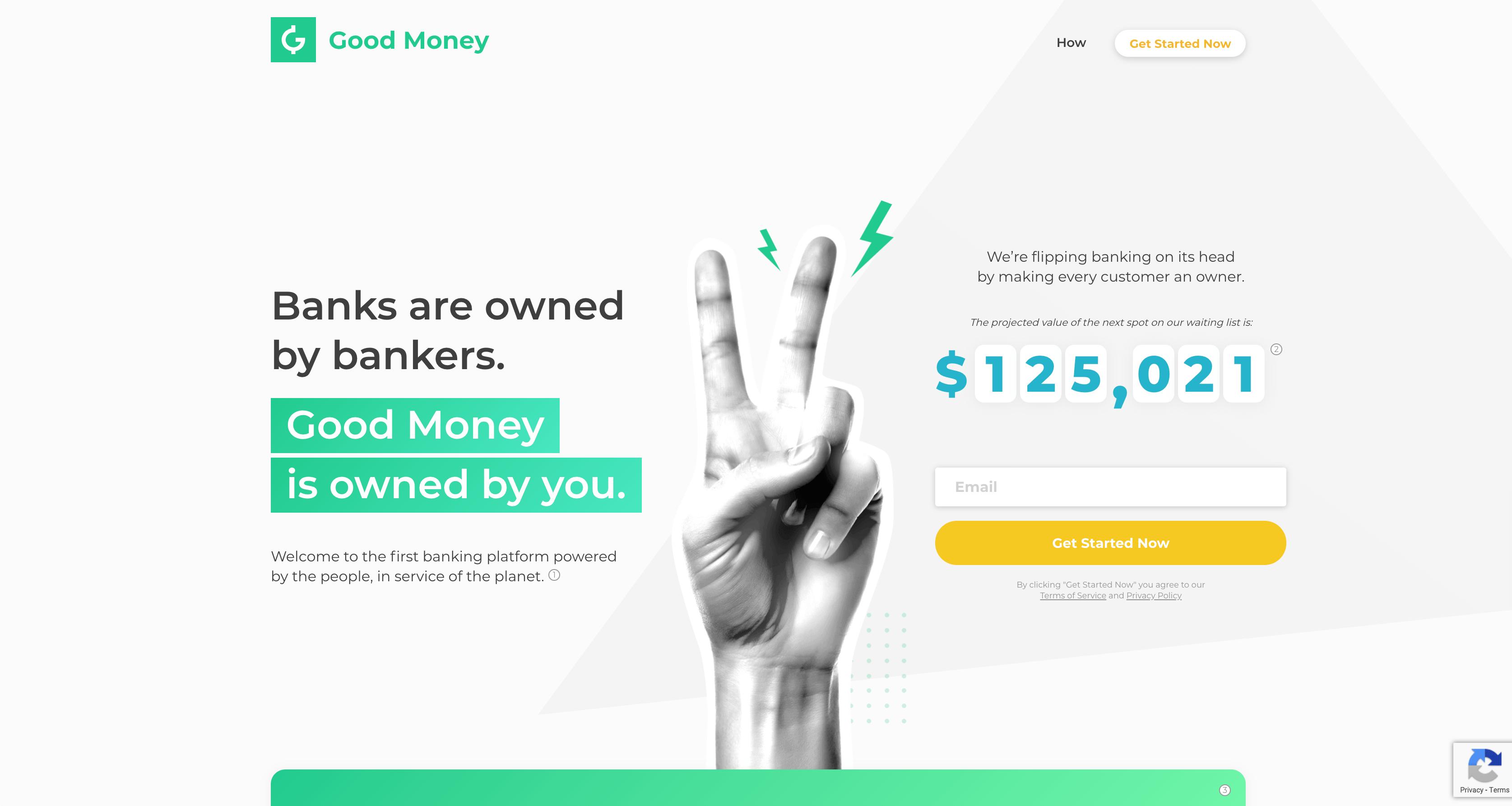 Good Money Banking App Website
