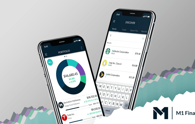 passive investing mobile application m1 finance for trading stocks and long-term savings